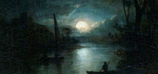 Elias Childe, River Scene at Night