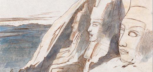 Edward Lear -- Abu Simbel